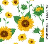 seamless pattern with... | Shutterstock .eps vector #513307759