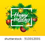 vector illustration christmas... | Shutterstock .eps vector #513312031