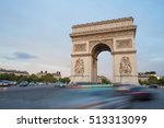 triumphal arch. paris. france.... | Shutterstock . vector #513313099