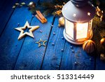 magical lantern on wooden... | Shutterstock . vector #513314449