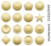 blank gold labels set. star... | Shutterstock . vector #513315949