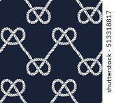 seamless nautical rope pattern. ... | Shutterstock . vector #513318817