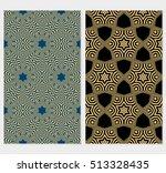 optical illusion ornament.... | Shutterstock .eps vector #513328435