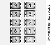 movie countdown numbers vector... | Shutterstock .eps vector #513330271