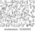 sketches of animals | Shutterstock . vector #51333535