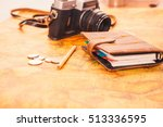 notebook  camera on the... | Shutterstock . vector #513336595