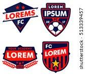 football logo badge isolated in ... | Shutterstock .eps vector #513339457
