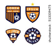 football logo badge isolated in ... | Shutterstock .eps vector #513339475