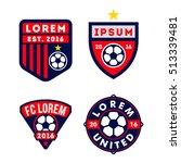 football logo badge isolated in ... | Shutterstock .eps vector #513339481