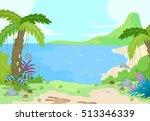illustration of a prehistoric... | Shutterstock .eps vector #513346339