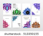 annual report brochure template ... | Shutterstock .eps vector #513350155