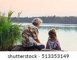 grandmother with grandchild  ... | Shutterstock . vector #513353149