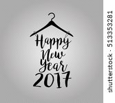 happy new year 2017  fashion... | Shutterstock .eps vector #513353281