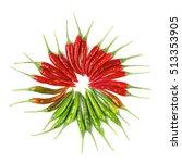 arrangement of perfect red ... | Shutterstock . vector #513353905