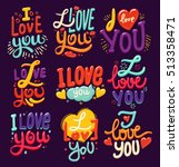 lettering made for postcard ... | Shutterstock .eps vector #513358471