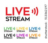 live stream icon | Shutterstock .eps vector #513362197