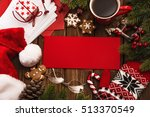 christmas card and decoration... | Shutterstock . vector #513370549