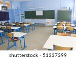 empty classroom in first grade... | Shutterstock . vector #51337399