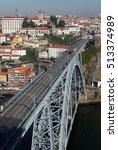 porto  portugal at dom luis... | Shutterstock . vector #513374989