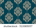 seamless ornament on background.... | Shutterstock .eps vector #513385057