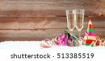 new years eve decoration with... | Shutterstock . vector #513385519