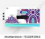 website template  trendy... | Shutterstock .eps vector #513391861