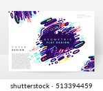 annual report brochure template ... | Shutterstock .eps vector #513394459