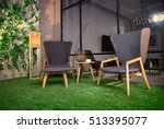 two comfortable chairs on the... | Shutterstock . vector #513395077