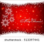 christmas background with... | Shutterstock .eps vector #513397441