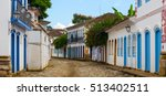multicolored houses on streets... | Shutterstock . vector #513402511