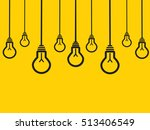 hanging lamps on yellow... | Shutterstock .eps vector #513406549
