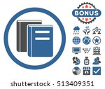 books icon with bonus images.... | Shutterstock . vector #513409351