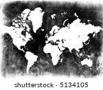 parchment world map | Shutterstock . vector #5134105