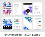 annual report brochure template ... | Shutterstock .eps vector #513416059