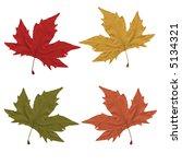 four fall leaves | Shutterstock . vector #5134321