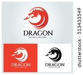 dragon logo design template ... | Shutterstock .eps vector #513433549