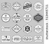 set of modern vintage badges ... | Shutterstock .eps vector #513445711
