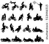 Set Of Biker Motocross...