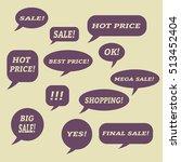 sale speech bubbles. . talk... | Shutterstock .eps vector #513452404