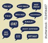 sale speech bubbles. . talk... | Shutterstock .eps vector #513456607