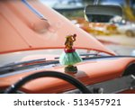 hula girl statuette on... | Shutterstock . vector #513457921