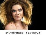 portrait of a beautiful woman...   Shutterstock . vector #51345925