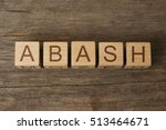 Small photo of abash word on wooden cubes