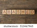 Small photo of abashed word on wooden cubes