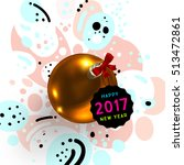 christmas and new year 2017...   Shutterstock .eps vector #513472861