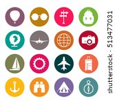 vector simple universal travel... | Shutterstock .eps vector #513477031