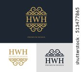 monogram design elements ... | Shutterstock .eps vector #513477865