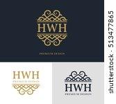 monogram design elements ... | Shutterstock .eps vector #513477865
