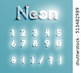 realistic neon character... | Shutterstock .eps vector #513482989