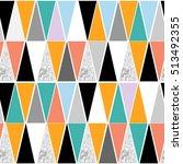 geometric hipster seamless... | Shutterstock .eps vector #513492355